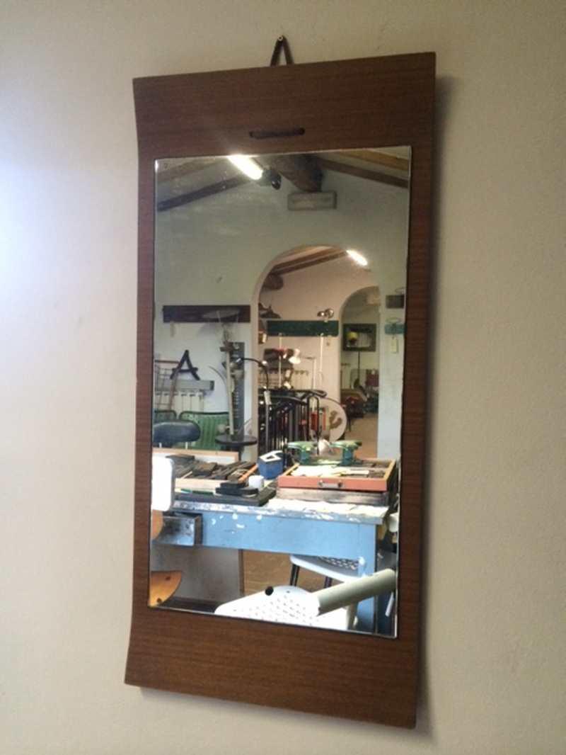 Specchio anni 50 h100 l48 p5 laboratorio vintage - Specchio anni 50 ...