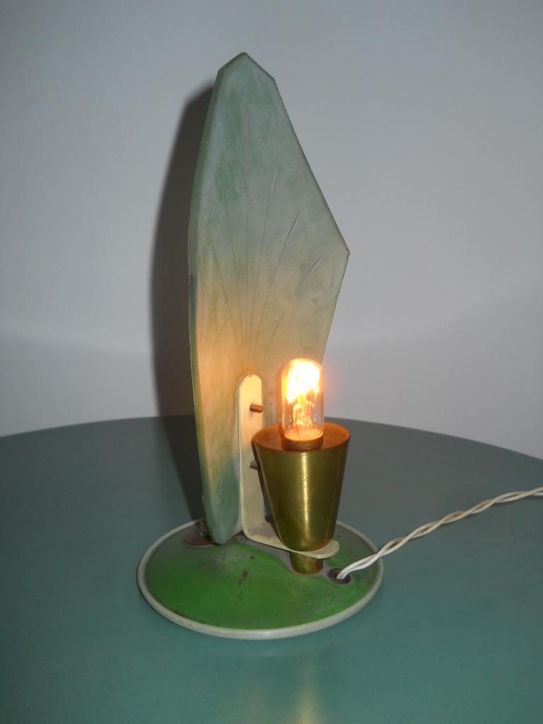 Lampada anni '50 verde in vetro – Laboratorio Vintage
