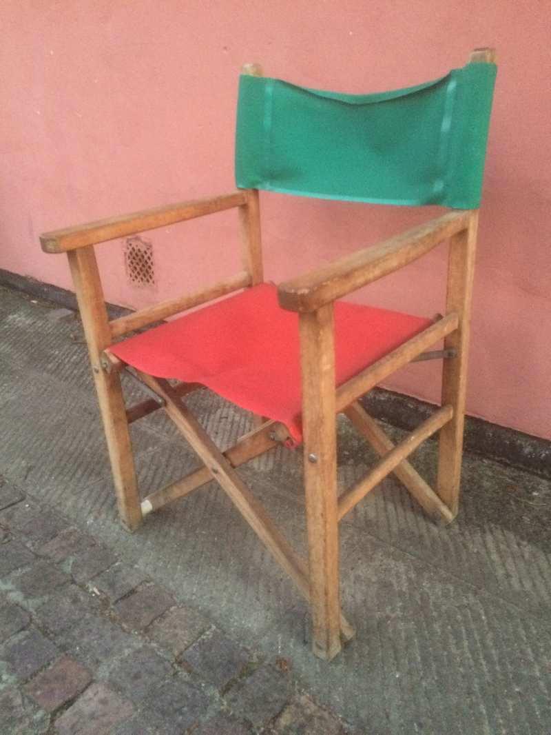 Sedia Da Regista Vintage Laboratorio Vintage