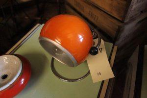Lampada da tavolo anni '70 arancione – Laboratorio Vintage