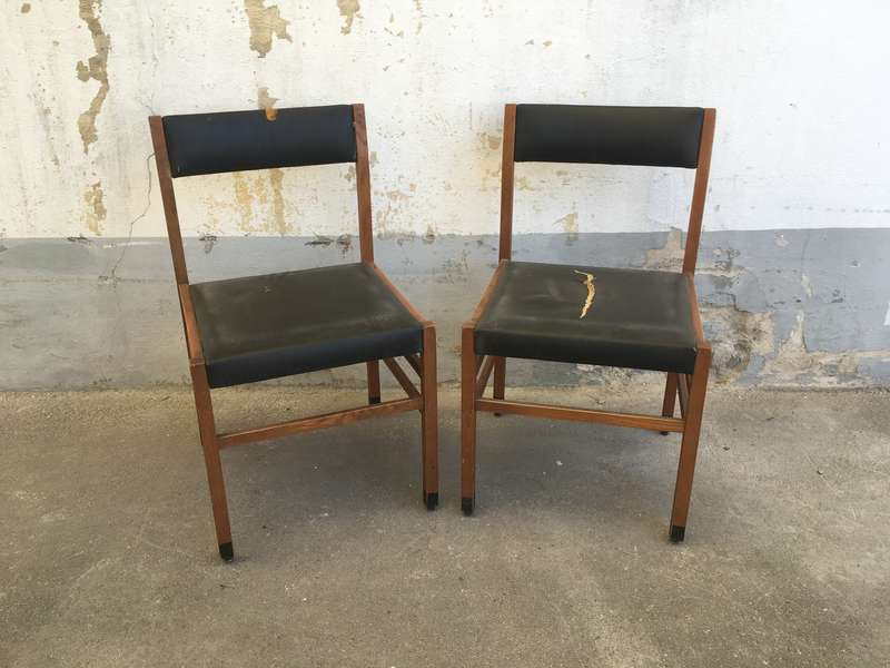 Sedie Anni 50 2 Pezzi Laboratorio Vintage