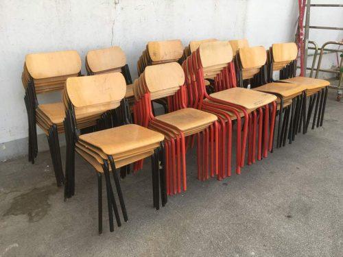 Sedie da scuola vintage blocco u laboratorio vintage