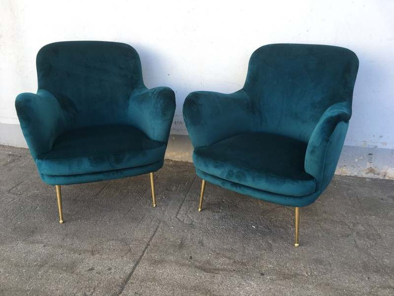 Poltrone stile anni 50 – coppia disponibile il divano – LABORATORIO ...