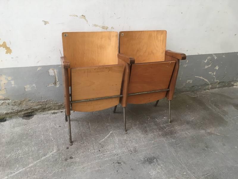 Poltrone da cinema vintage fila di sedie poltrone da for Sedie osteria usate