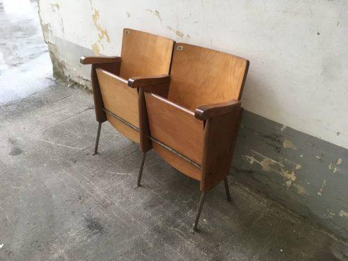Sedie Da Cinema Vintage.Sedie Da Cinema Da 2 Posti Vintage Laboratorio Vintage