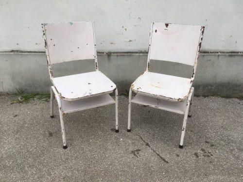 Sedie industriali vintage – 2 pz – LABORATORIO VINTAGE
