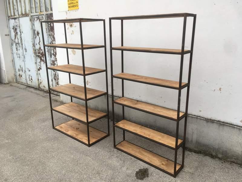Scaffalature ferro legno nostra produzione laboratorio vintage - Mobili in ferro vintage ...