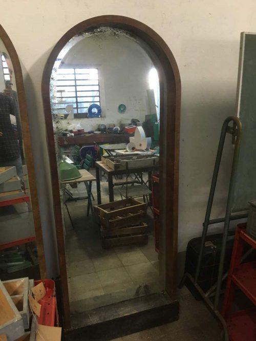 Specchio anni 40 h180 l70 p12 2 pz laboratorio vintage for Specchio unghia anni 70
