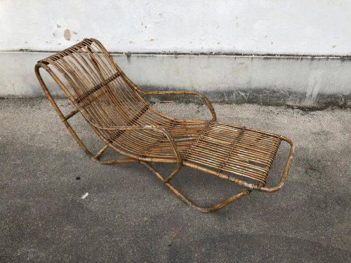 Plafoniere Vimini : Chaise longue in vimini vintage u2013 laboratorio