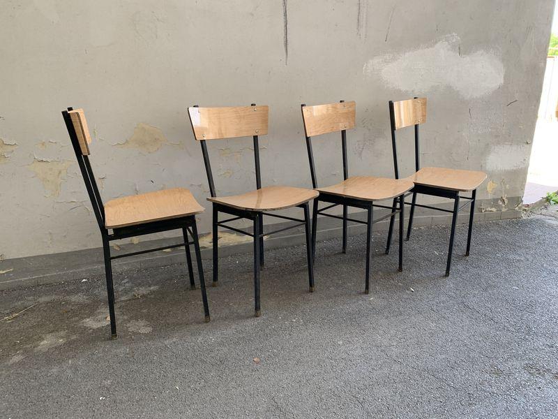 Sedie In Ferro Vintage.Sedie Vintage Struttura In Ferro 4 Pz Laboratorio Vintage