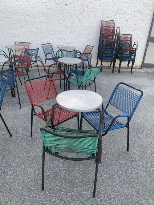 Set tavoli e sedie da bar vintage - SOLO NOLEGGIO ...