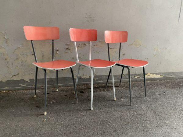 Sedie in formica vintage - 3 pz - LABORATORIO VINTAGE